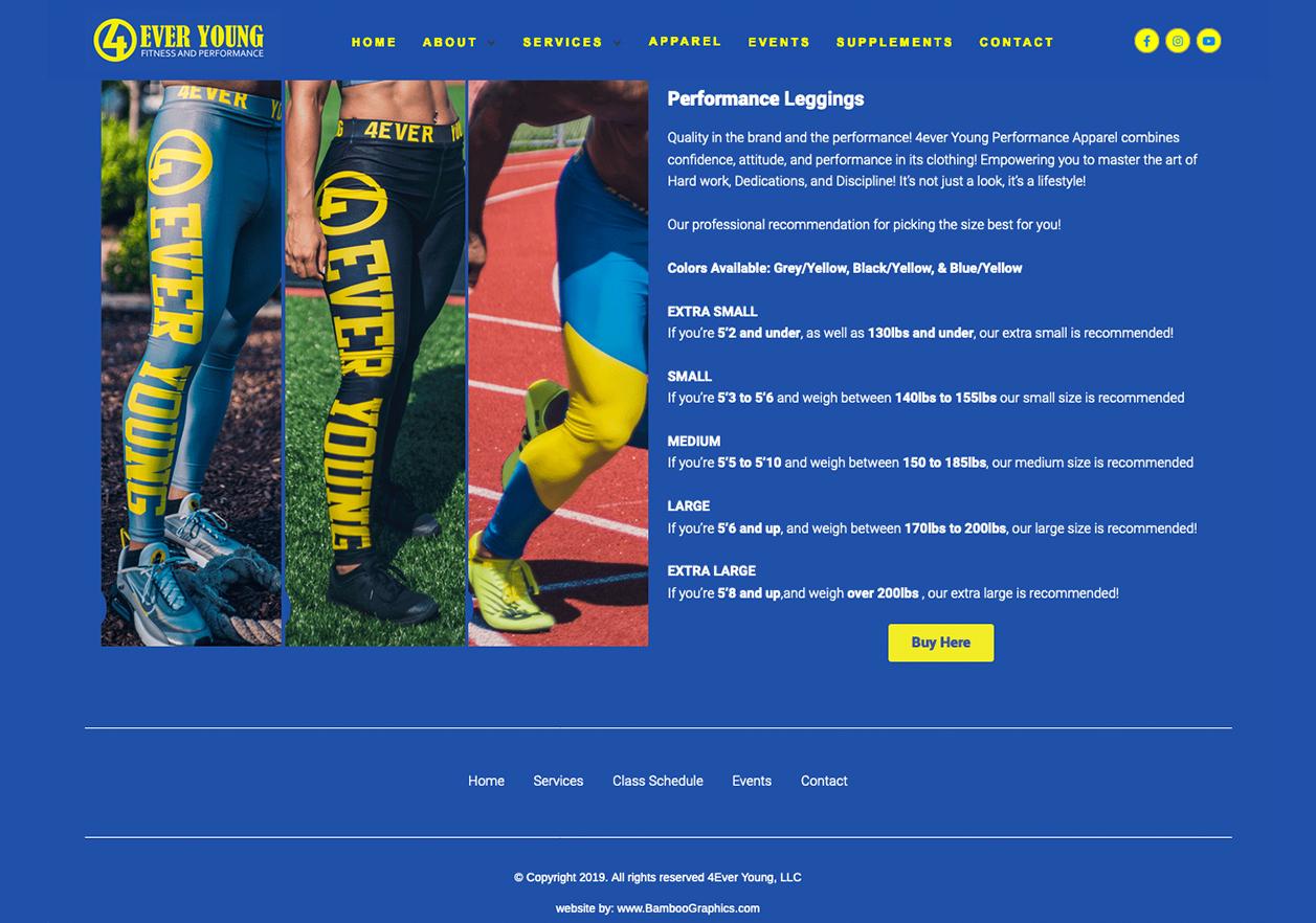 4ever_young_apparel_website